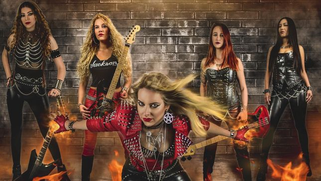 BURNING WITCHES Reveal Dance With The Devil Album Artwork