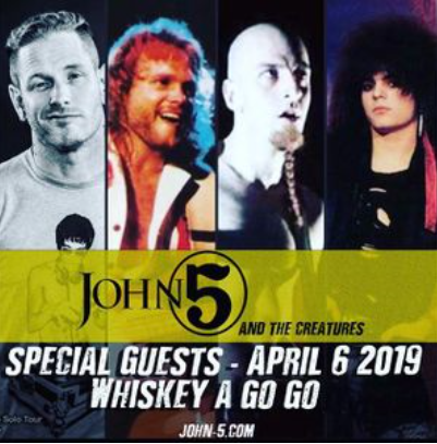 JOHN 5 AND THE CREATURES Announce Special Guests For Whisky A Go Go