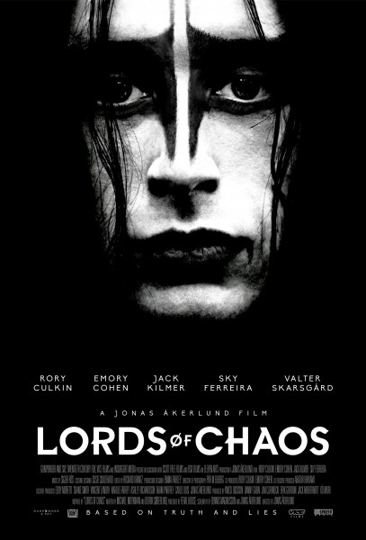 mayhem biopic lords of chaos � new movie poster shows a