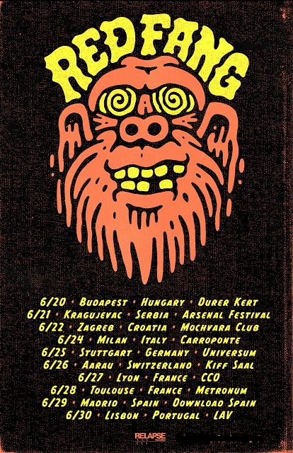 red fang announce summer european headline tour dates. Black Bedroom Furniture Sets. Home Design Ideas