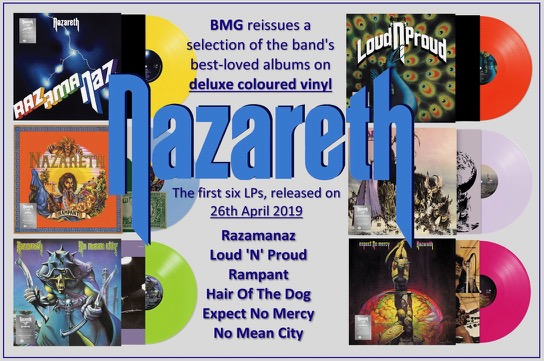 Nazareth To Reissue A Selection Of Their Best Loved Albums