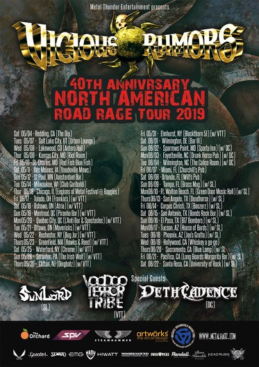 Vicious Rumors Announce 40th Anniversary Road Rage North
