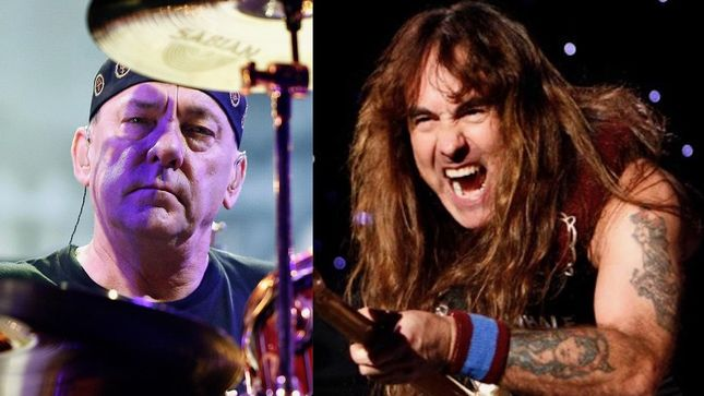 "IRON MAIDEN's STEVE HARRIS Remembers Late RUSH Drum Legend NEIL PEART - ""A Fantastic Talent And Sadly Missed"""