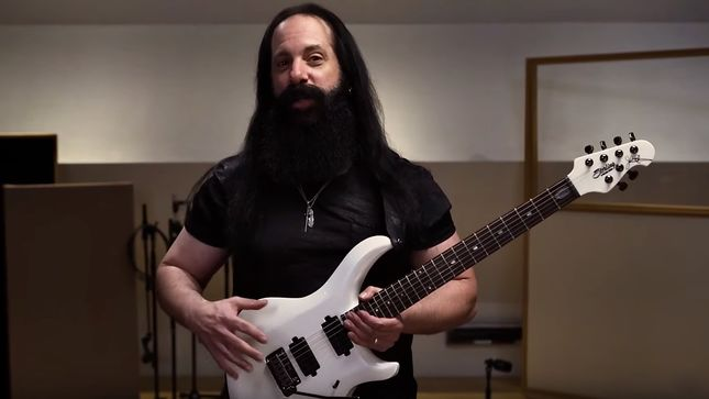 DREAM THEATER Guitarist JOHN PETRUCCI Demos His Sterling By Music Man Majesty | MAJ100X; Video