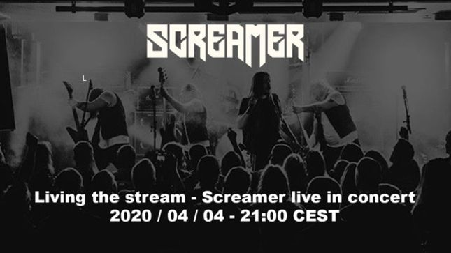 SCREAMER To Stream Live Concert Today