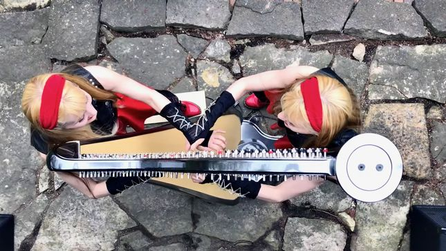 """2 Girls 1 Harp: CAMILLE AND KENNERLY Cover BILLY IDOL's """"Dancing With Myself""""; Video"""