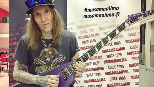 Bodom After Midnight Frontman Alexi Laiho Unveils Two New Signature Esp Custom Shop Guitars Bravewords