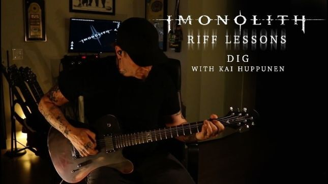 "IMONOLITH Featuring DEVIN TOWNSEND PROJECT, THREAT SIGNAL Members Post New Episode Of Riff Lessons: ""Dig"" (Video)"