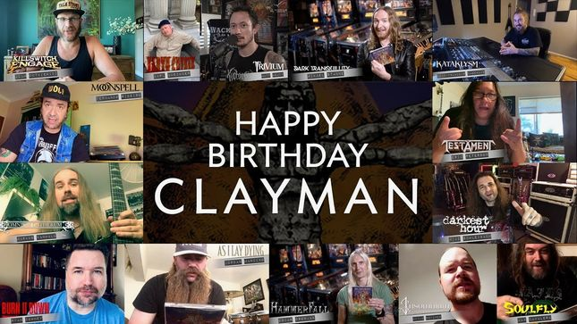 Members Of TESTAMENT, KATAKLYSM, HAMMERFALL, KILLSWITCH ENGAGE, SOULFLY And More Celebrate 20th Anniversary Of IN FLAMES' Clayman Album; Video