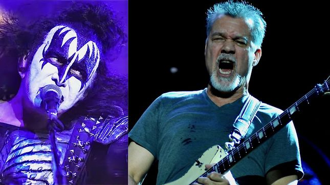 "GENE SIMMONS On EDDIE VAN HALEN - ""I Was Not Just Amazed By His Talent, But I Admire Him So Much As A Human Being"""