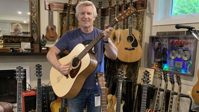 BraveWords Teams Up With TRIUMPH's RIK EMMETT To Giveaway Signed Simon & Patrick Acoustic Guitar