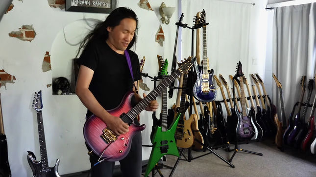 "DRAGONFORCE Guitarist HERMAN LI Jams To JOE SATRIANI's ""Ali Farka, Dick Dale, An Alien And Me""; Stripped x Three Video"