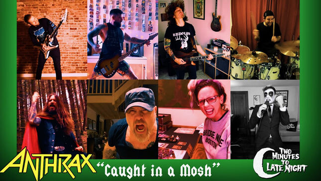 """ANTHRAX Classic """"Caught In A Mosh"""" Covered By Members Of CARCASS, REVOCATION, PERIPHERY, HJELVIK, ALL THAT REMAINS, And More; Video"""