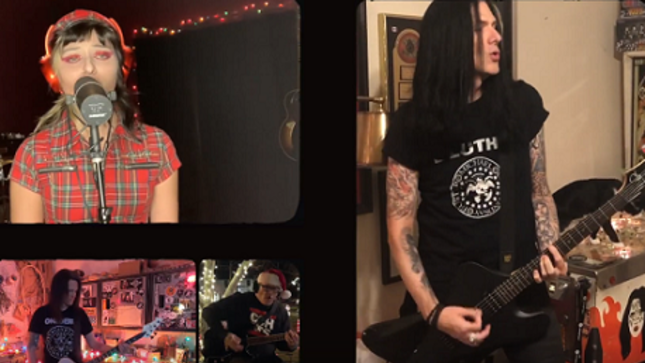 "NIGHT MANGER Featuring TODD KERNS, FRANKIE CLARKE, And More Cover RAMONES' ""Merry Christmas (I Don't Want To Fight Tonight)"" In New Video"