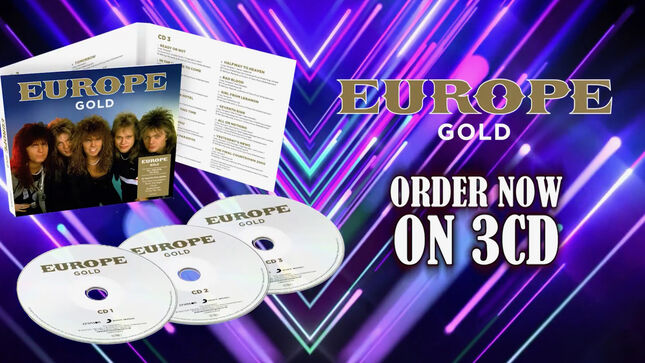 EUROPE Gold 3CD Set Due In January; Video Trailer