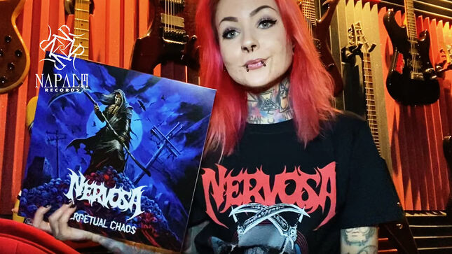 NERVOSA - Vinyl Edition Of Upcoming Perpetual Chaos Album Unboxed; Video