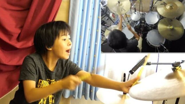 "Japanese 11 Year-Old Drum Prodigy YOYOKA Covers DEEP PURPLE's ""Speed King"" (Video)"