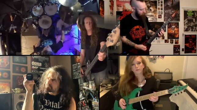 """EXODUS, EVILE, LET US PREY Members Cover KING DIAMOND's """"A Mansion In Darkness""""; Video"""