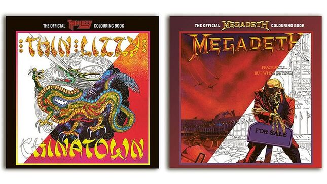 THIN LIZZY, MEGADETH Coloring Books Available For Preorder