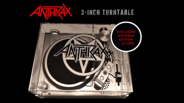 ANTHRAX - Limited Edition Mini-Turntable And Four 3