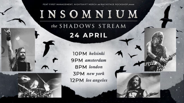 "INSOMNIUM To Perform Entire Shadows Of The Dying Sun Album In Livestream Event, ""The Shadows Stream"""